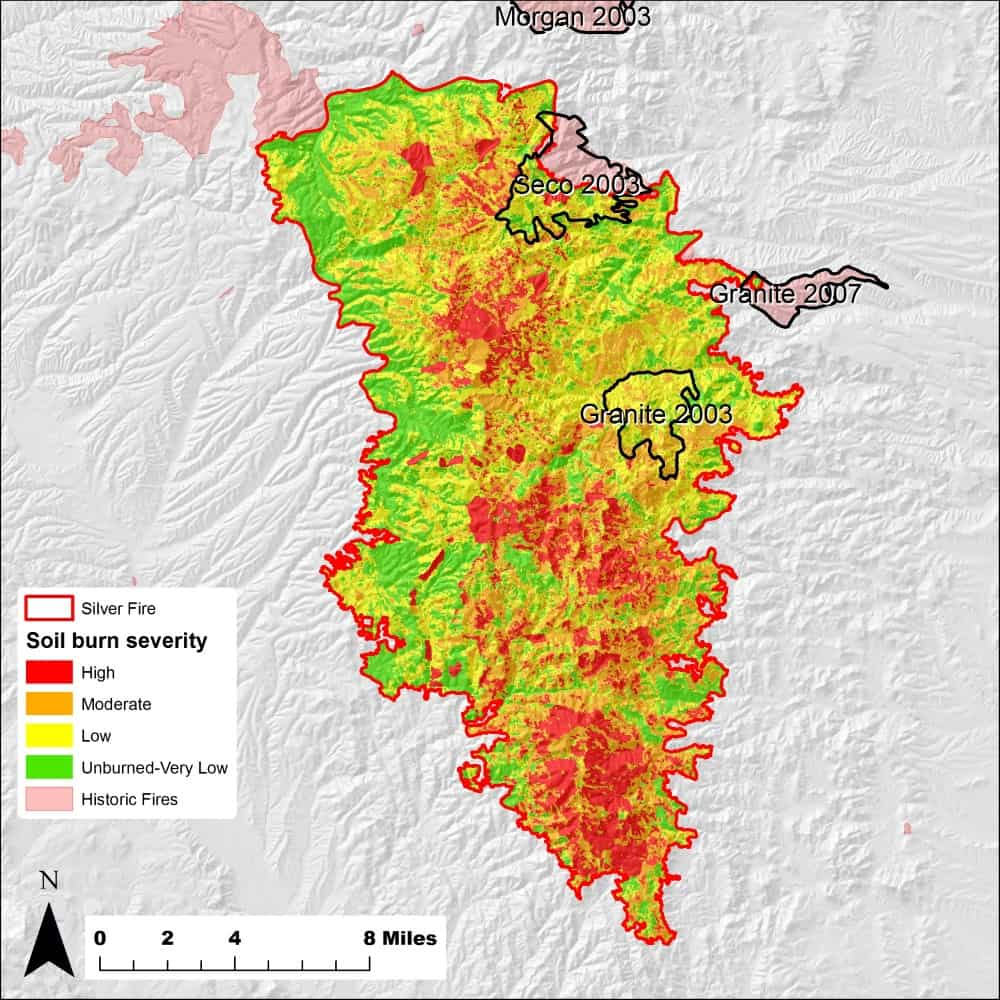 Silver Wildfire severity map