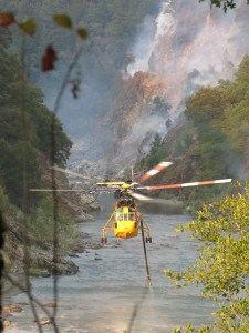 Croman helicopter draws water