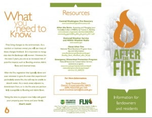 After the Fire brochure