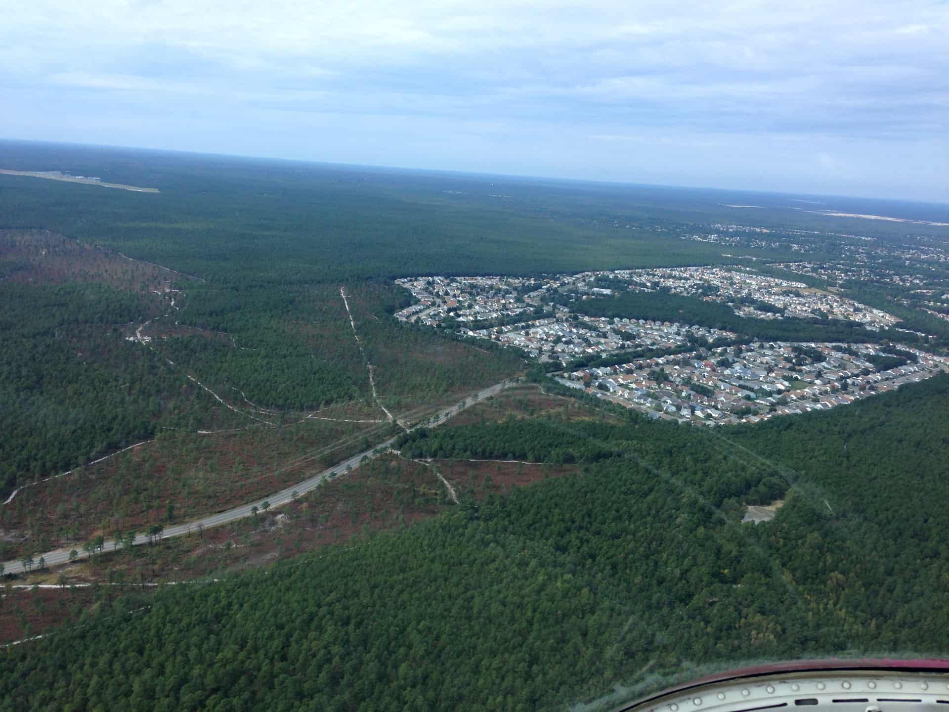 Aerial view of Pine Barrens