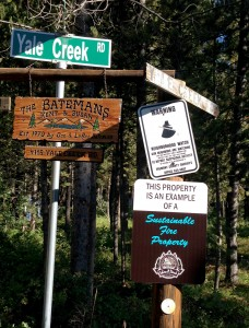 Yale Creek signs