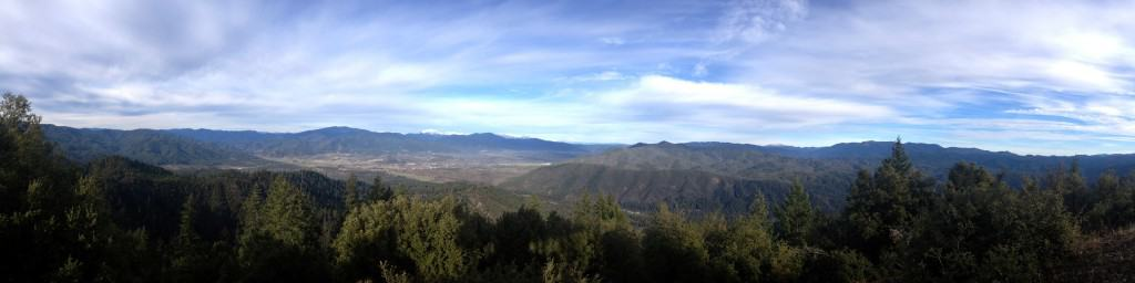 This view of Hayfork Valley was taken with my i-phone's panorama feature. Rather than take several pictures and fit them together with software later, I just chose the pano setting and followed the skyline.