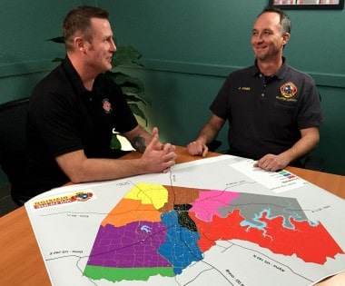 Fire Departments Conduct FAC Exchange