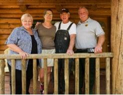 Upper Cow Creek FireWise participants with Stouts Creek Fire Structural Liason Steve Bowen. Photo Credit: Marcus Kauffman