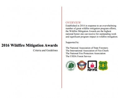 2016 Wildfire Mitigation Awards