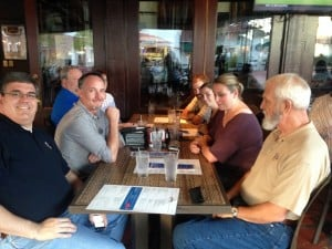FAC Network folks gathered for a night out at a local brewery. Photo Caption: Molly Mowry