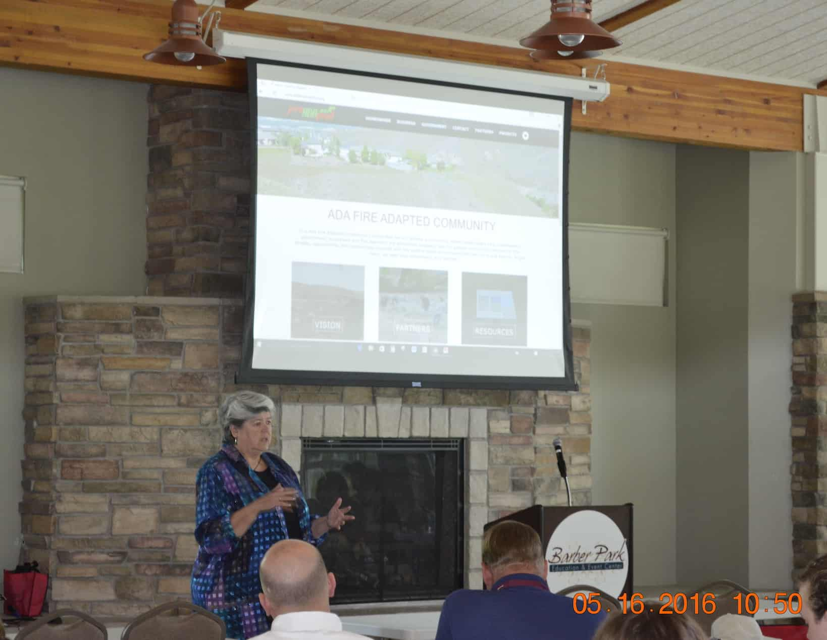 Pam Leschak Sharing the FAC Message Photo Credit: Jennifer Myslivy, State Fire Mitigation & Trespass Specialist, BLM