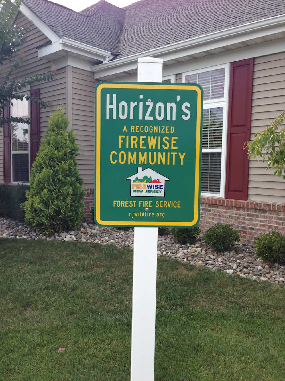 Horizons at Barnegat, an over-55 residential development, was designated as a Firewise Community in 2009. Credit: Wendy Fulks