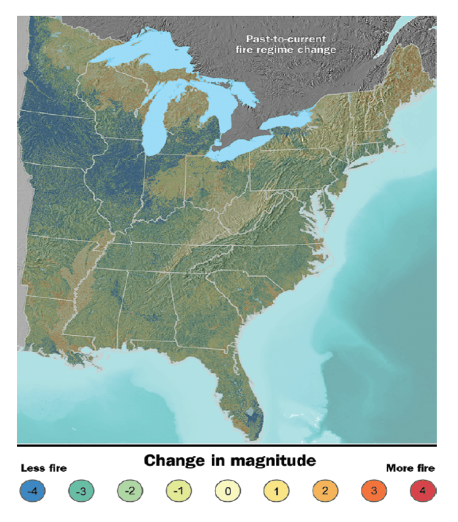 Figure from Nowacki and Abrams: Fire regime change in the eastern United States. Borrowed from Nowacki and Abrams 2008.