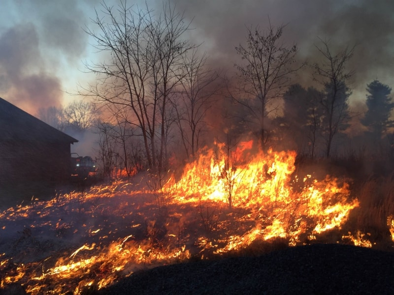 NJFFS prescribed burn at Monmouth Battlefield State Park, Manalapan, NJ, January 6, 2016, 175 acres. Photo Credit: Samantha Herceg, NJFFS
