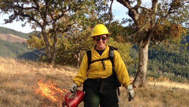 In Hayfork, restoring oak woodland health is the focus of many prescribed burns. Photo Credit: Lenya Quinn Davidson
