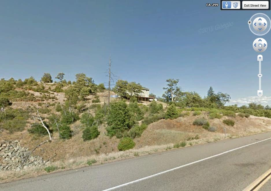 Google street view shows a home constructed post fire