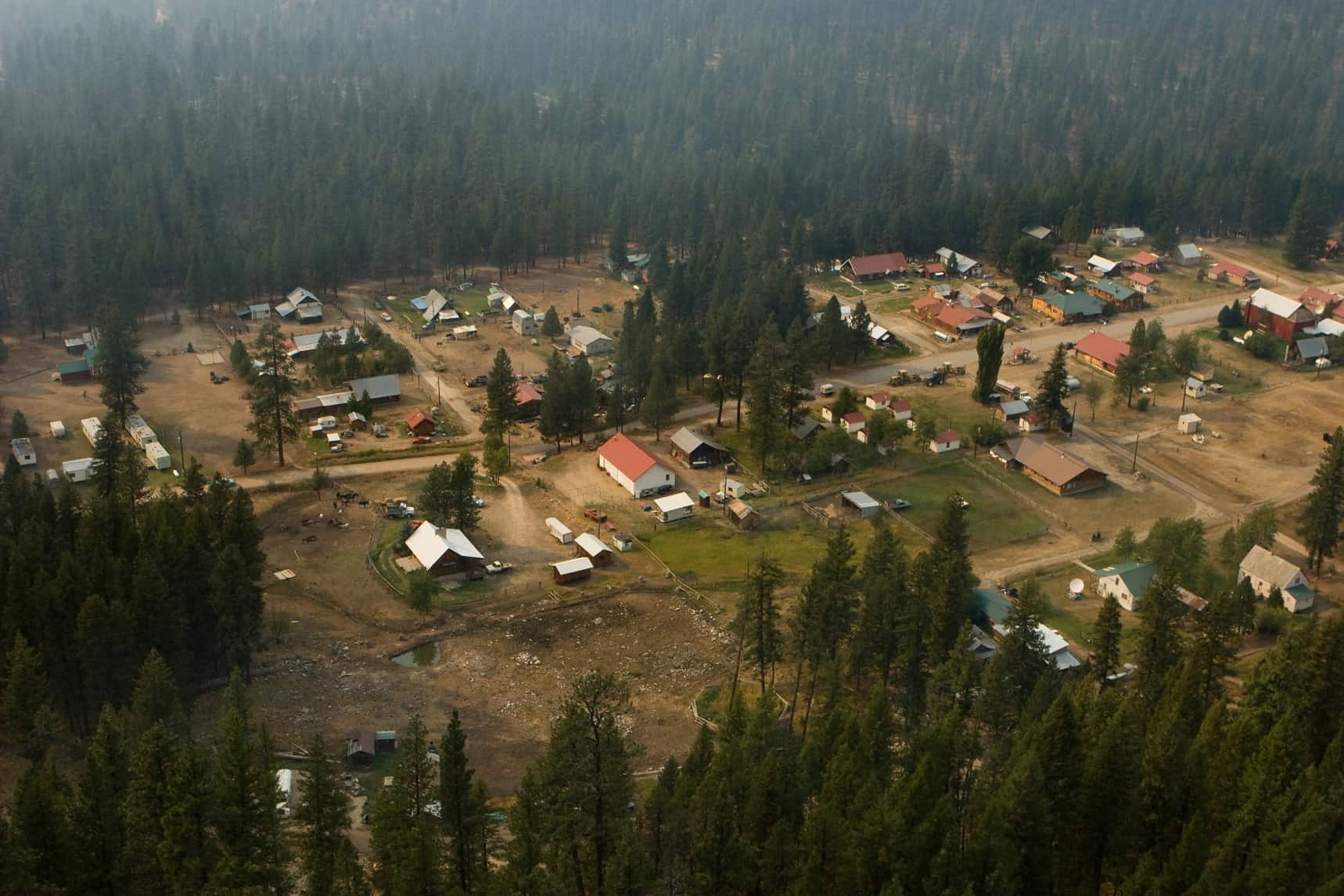 A WUI community near or in Boise National Forest