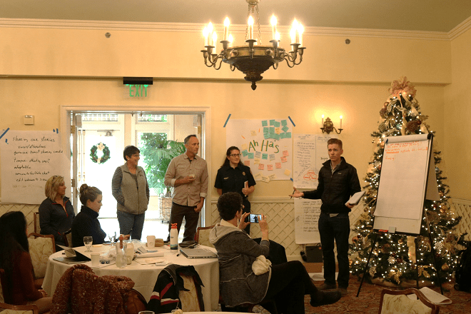 Workshop participant explained how the workshop unpacked the process of getting better fire outcomes.