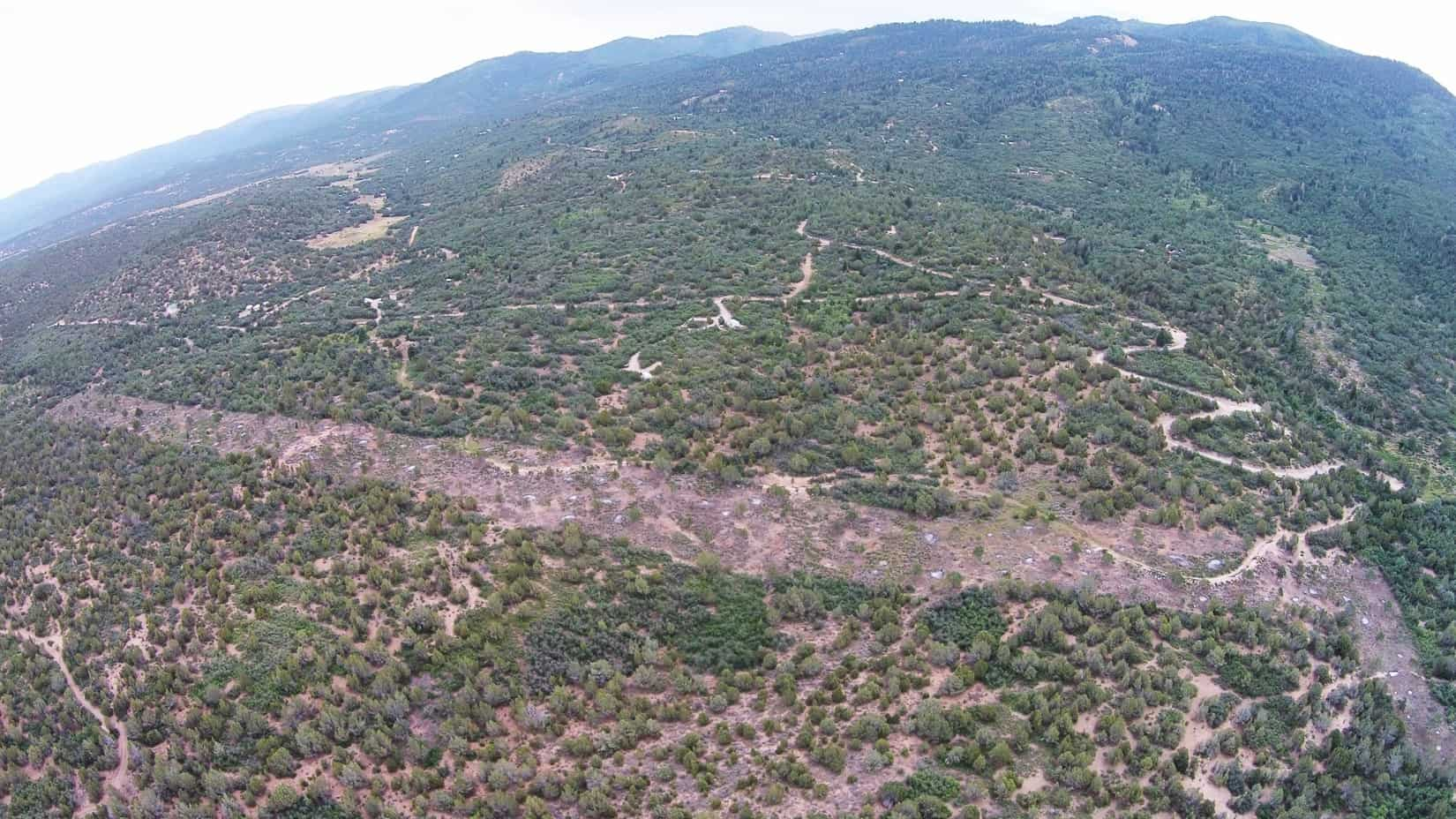 Aerial view of shaded fuel break; something Utah's new wildfire policy hopes to stimulate.
