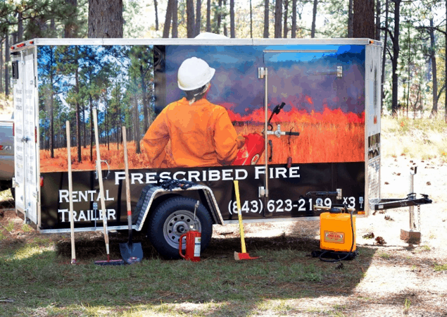A prescribed burn trailer is one of the ways that some groups are increasing prescribed fire capacity.