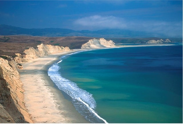 View of Point Reyes National Seashore's coastline