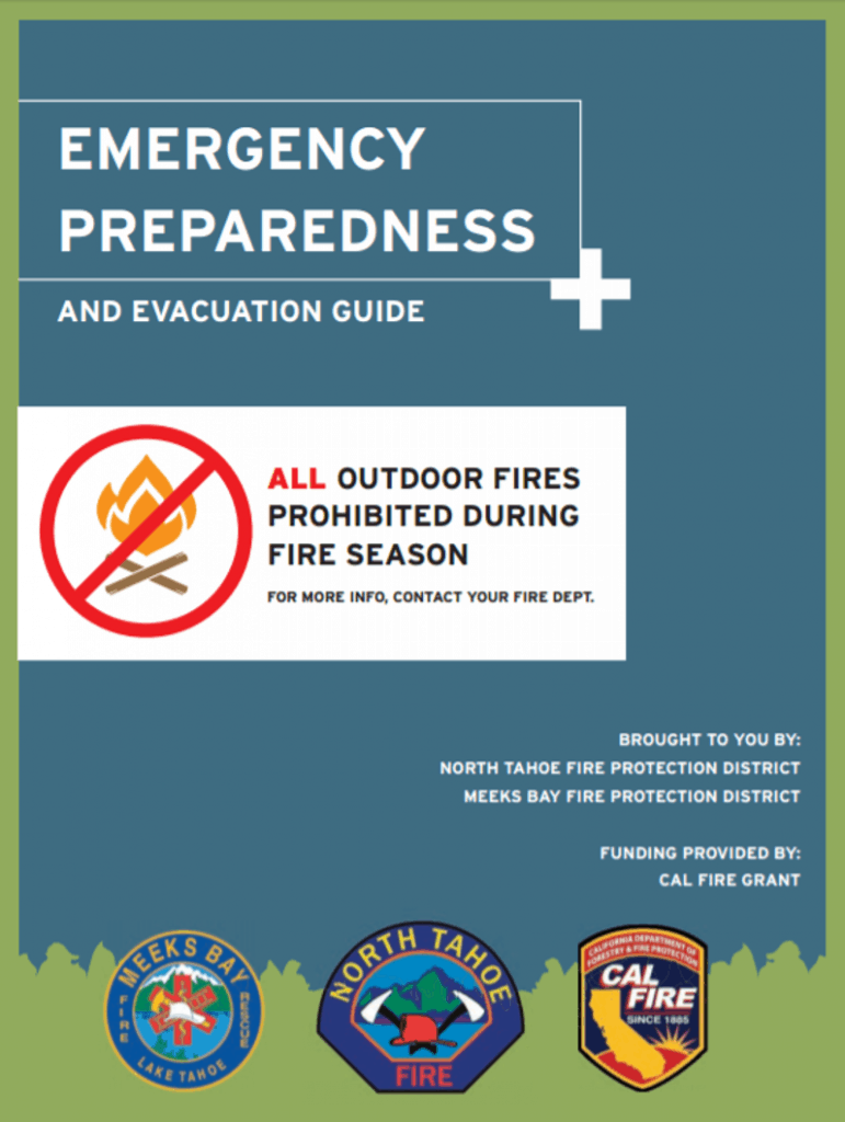 Screenshot of Tahoe's Emergency Preparedness Guide