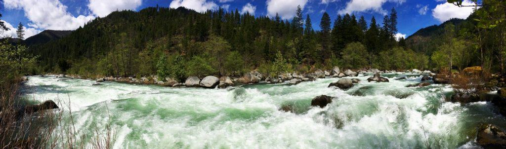 The Salmon River flowing downstream