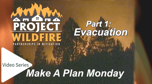 Screenshot of Project Wildfire's wildfire evacuation planning video (opening scene)