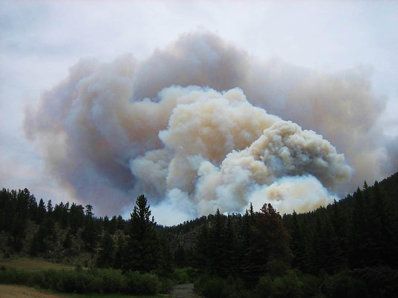Wildfire smoke plume
