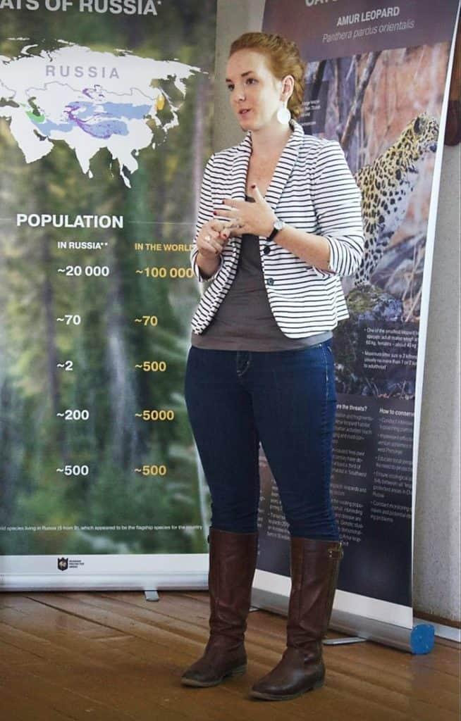 Jenifer presenting a poster