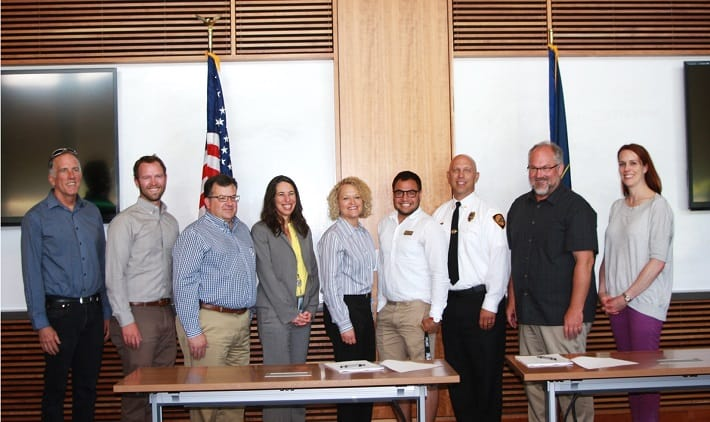 Group picture of signatories after signing Salt Lake City's Community Wildfire Protection Plan