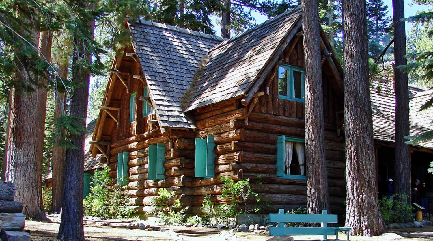 Forested cabin in the Lake Tahoe Area