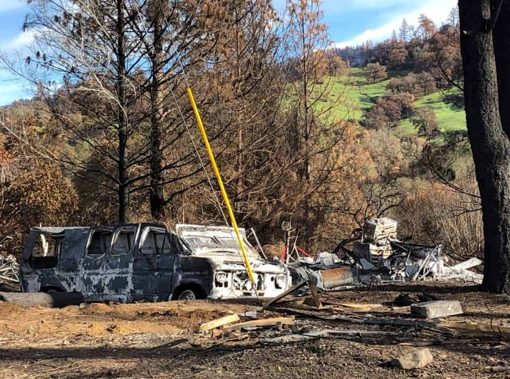 Redwood Valley Fire damage