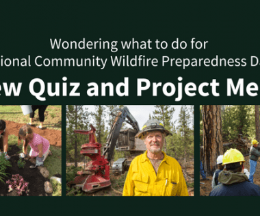 Discover the #WildfirePrepDay Project Right for You: New Quiz and Project Menu!