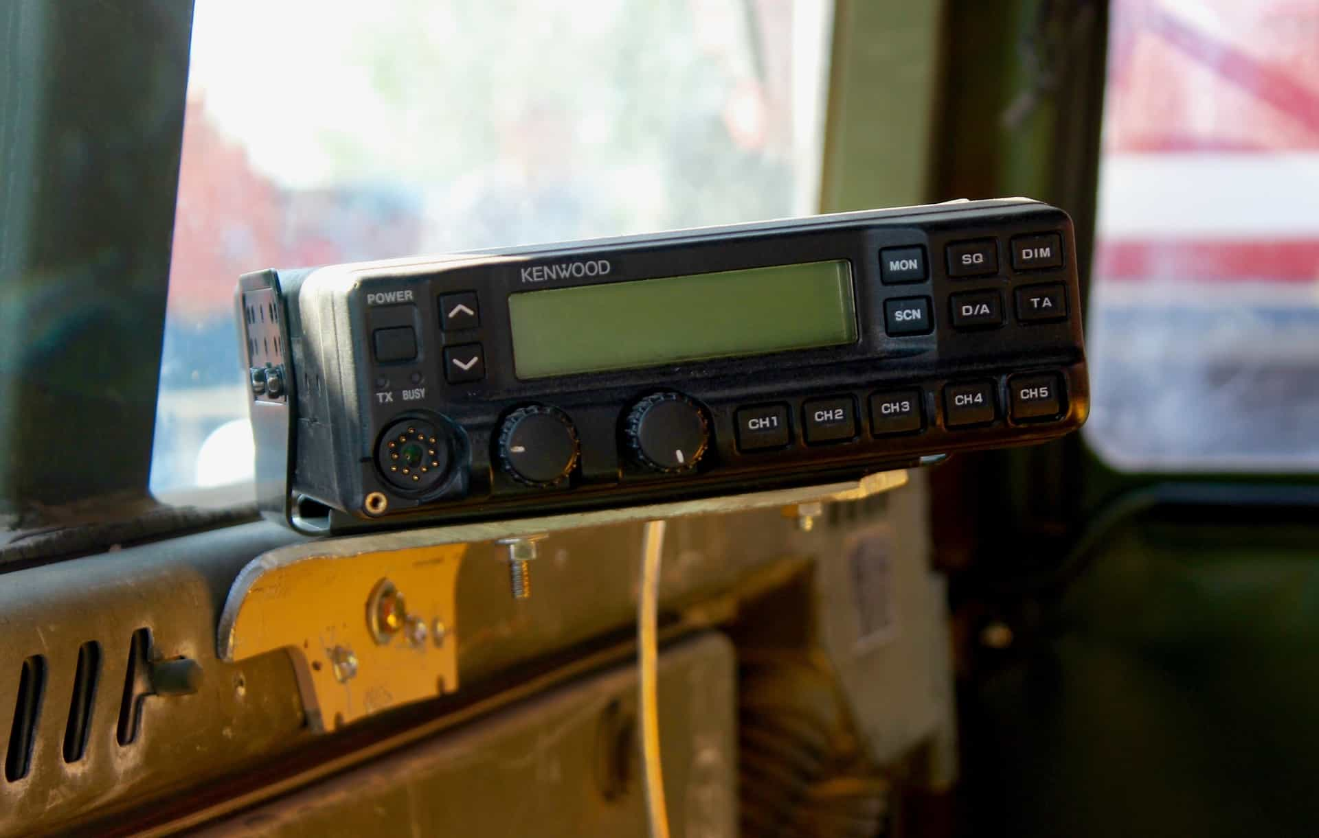 Radio inside a truck