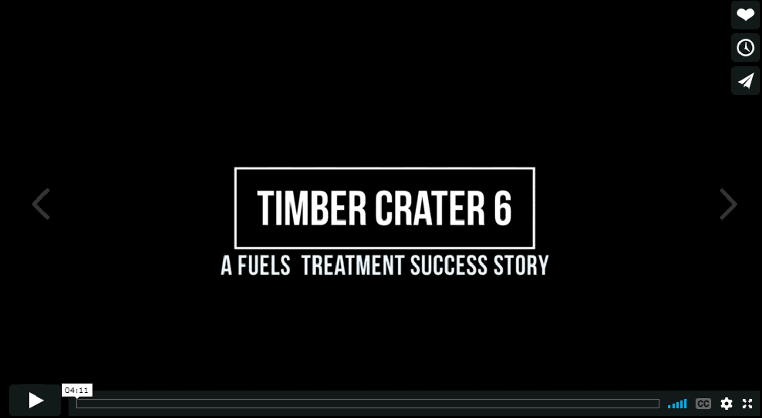 Screenshot of Timber Crater 6 movie, click to play movie