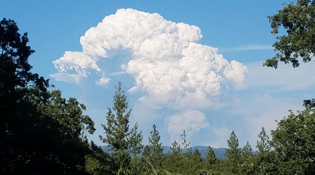 Carr Fire smoke plume