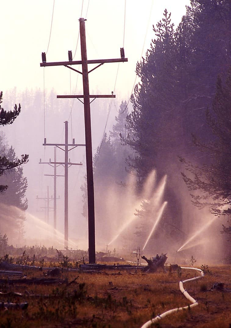 Irrigation piping during the 1988 North Fork Fire