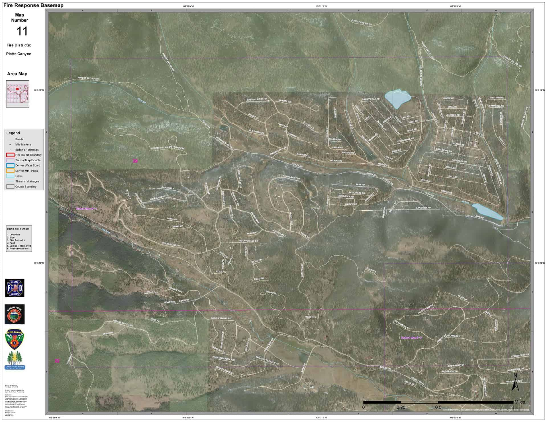 "Wildfire response base maps, labelled ""Map Number 11"""