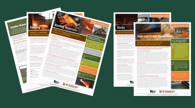 Screenshots of NFPA factsheets