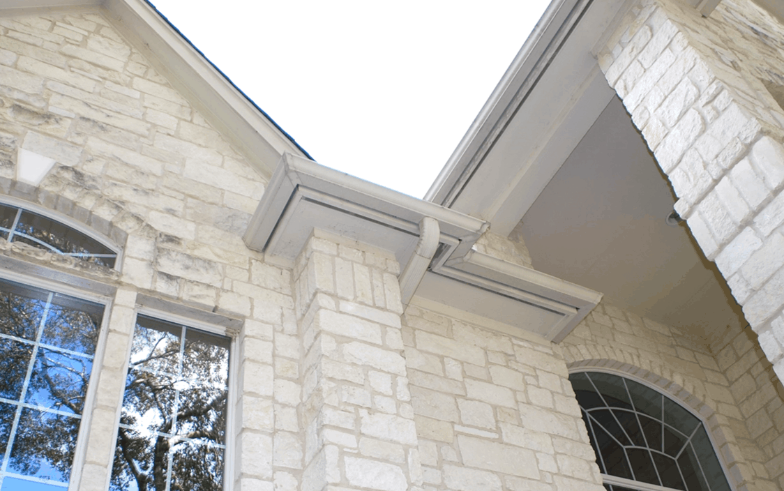 Covered soffits with vents