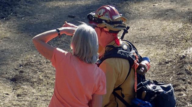 Burn boss and landowner observing a controlled burn