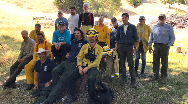 Fire practitioners group photo