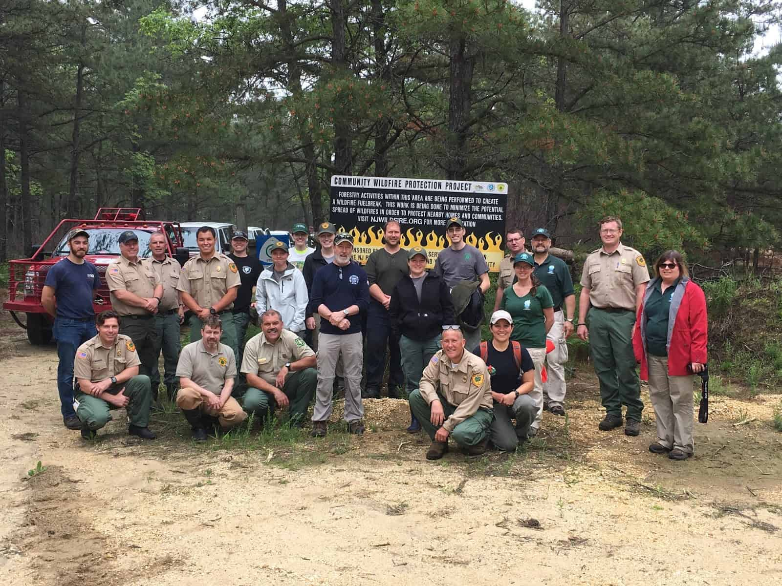 Group of Fire management staff in northeastern U.S. pine forests