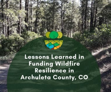I've Got Them Non-Profit Funding Blues: Lessons Learned in Funding Wildfire Resilience in Archuleta County, CO