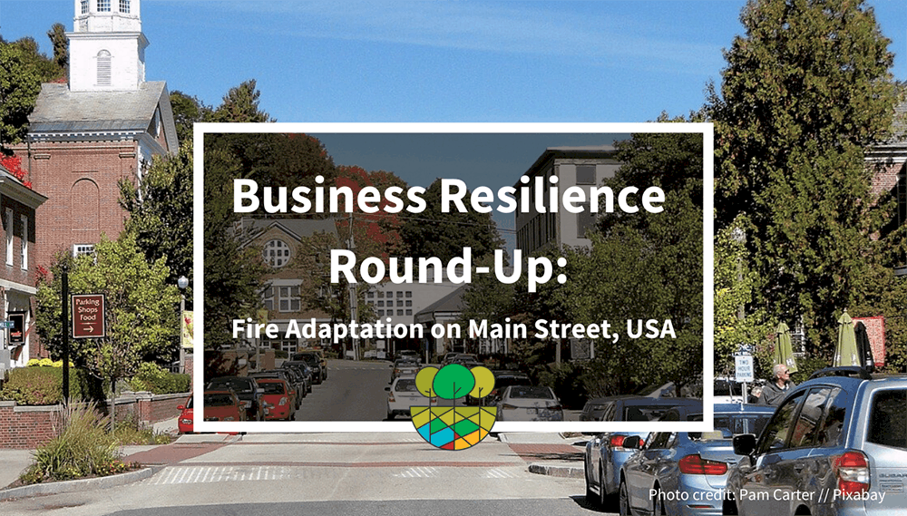 Fire Adapted Business Resilience on Main Street USA Header