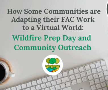 How Some Communities are Adapting their FAC Work to a Virtual World: Wildfire Prep Day and Community Outreach