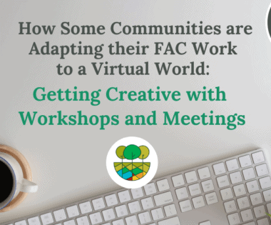 How Some Communities are Adapting their FAC Work to a Virtual World: Getting Creative with Workshops and Meetings