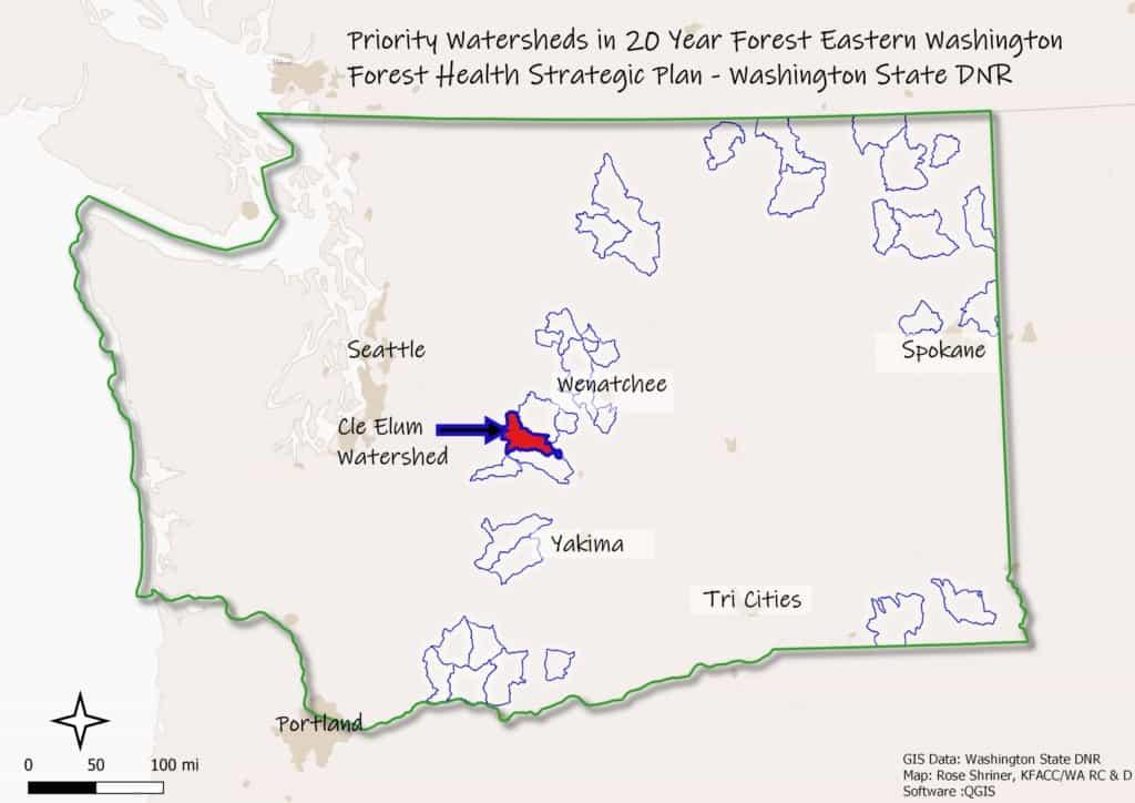 Screenshot of map of Oregon