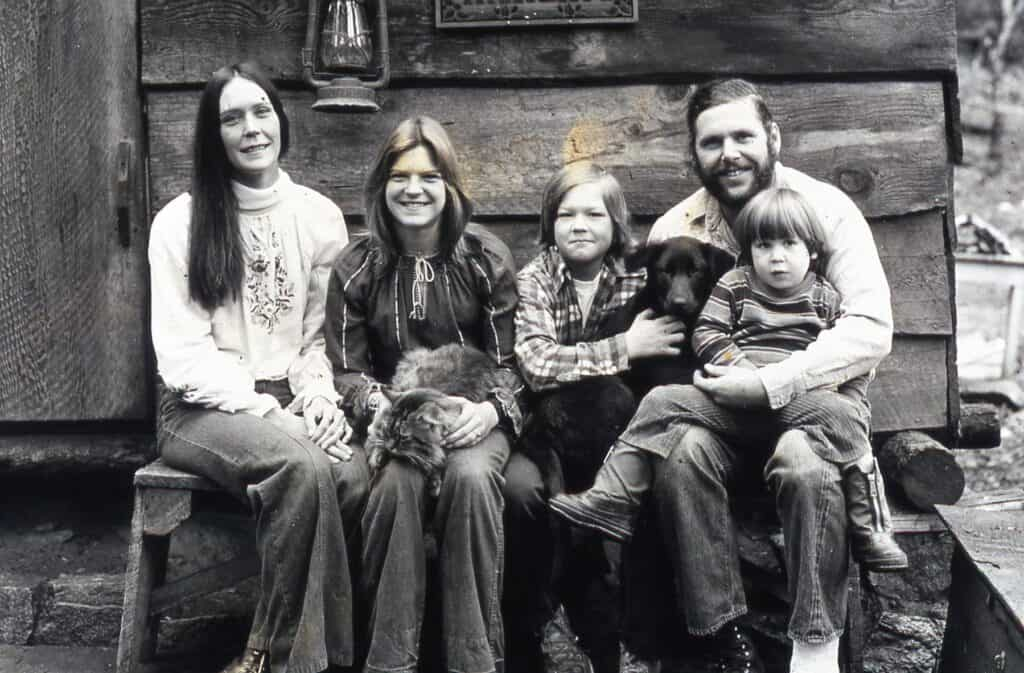 Black and white photo of Will's family.