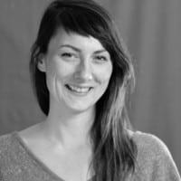 Black and white photo of Ashley Blazina