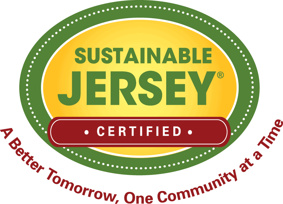 Logo for Sustainable Jersey that reads:Sustainable Jersey Certified a better tomorrow, one communtiy at a time.