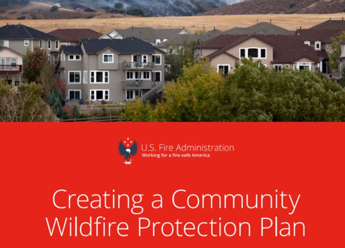Cover of a book titled Creating a Community Wildfire Protection Plan