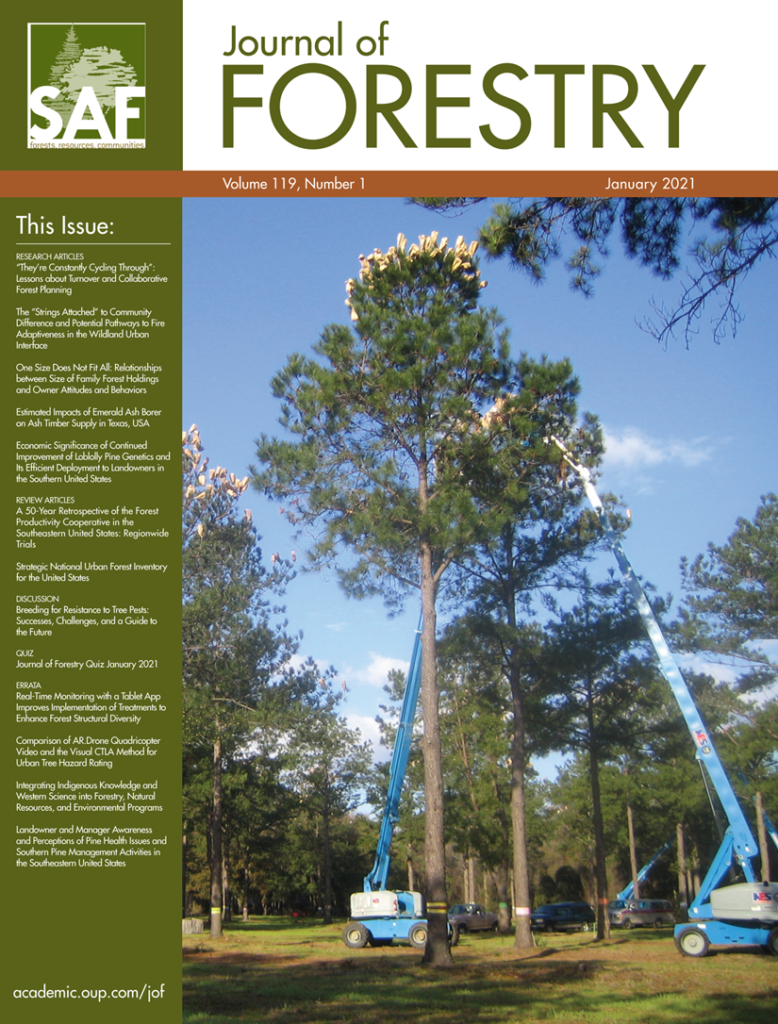The cover of the Journal of Forestry